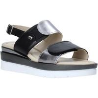 kengät Naiset Sandaalit ja avokkaat Valleverde 32141 Musta