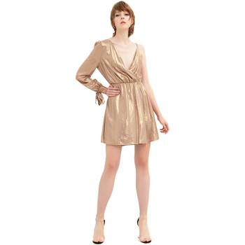 vaatteet Naiset Lyhyt mekko Fracomina FR20SP453 Kulta
