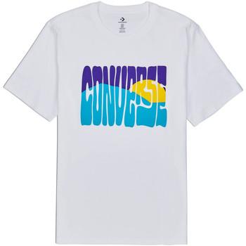 vaatteet Miehet Lyhythihainen t-paita Converse 10018864-A01 Valkoinen