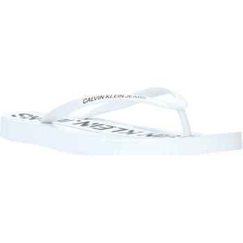 kengät Naiset Varvassandaalit Calvin Klein Jeans B4R0904 Valkoinen