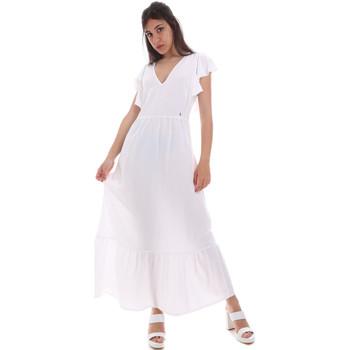 vaatteet Naiset Pitkä mekko Gaudi 011BD15039 Valkoinen
