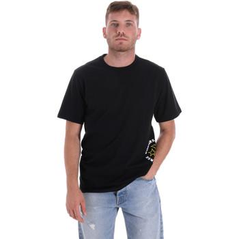 vaatteet Miehet Lyhythihainen t-paita Converse 10018872-A03 Musta