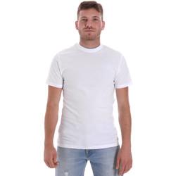 vaatteet Miehet Lyhythihainen t-paita Les Copains 9U9013 Valkoinen