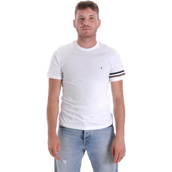 vaatteet Miehet Lyhythihainen t-paita Les Copains 9U9014 Valkoinen