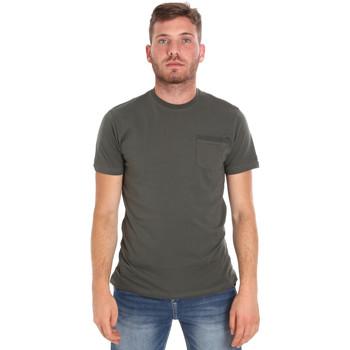 vaatteet Miehet Lyhythihainen t-paita Les Copains 9U9010 Vihreä