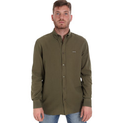 vaatteet Miehet Pitkähihainen paitapusero Les Copains 9U2371 Vihreä