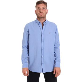 vaatteet Miehet Pitkähihainen paitapusero Les Copains 9U2371 Sininen