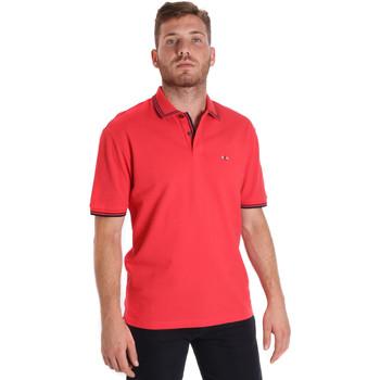 vaatteet Miehet Lyhythihainen poolopaita Les Copains 9U9020 Punainen