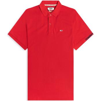 vaatteet Miehet Lyhythihainen poolopaita Tommy Jeans DM0DM07802 Punainen