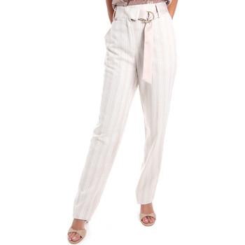 vaatteet Naiset Chino-housut / Porkkanahousut Fracomina FR20SM565 Beige