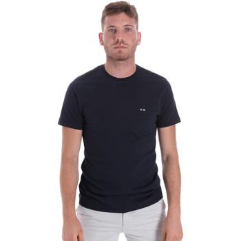 vaatteet Miehet Lyhythihainen t-paita Les Copains 9U9011 Sininen