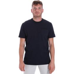 vaatteet Miehet Lyhythihainen t-paita Les Copains 9U9010 Sininen