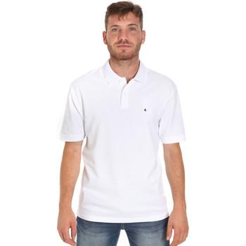 vaatteet Miehet Lyhythihainen poolopaita Les Copains 9U9015 Valkoinen