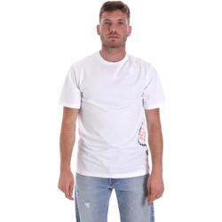 vaatteet Miehet Lyhythihainen t-paita Converse 10018872-A02 Valkoinen