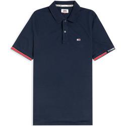 vaatteet Miehet Lyhythihainen poolopaita Tommy Jeans DM0DM07803 Sininen