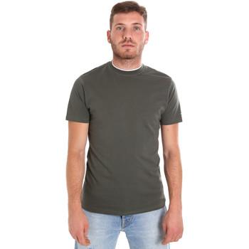 vaatteet Miehet Lyhythihainen t-paita Les Copains 9U9013 Vihreä