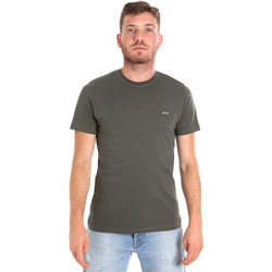 vaatteet Miehet Lyhythihainen t-paita Les Copains 9U9011 Vihreä