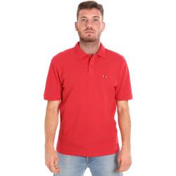 vaatteet Miehet Lyhythihainen poolopaita Les Copains 9U9015 Punainen