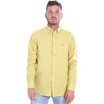 vaatteet Miehet Pitkähihainen paitapusero Les Copains 9U2371 Keltainen