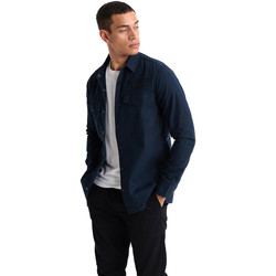 vaatteet Miehet Pitkähihainen paitapusero Superdry M4010024A Sininen