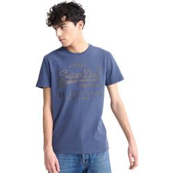 vaatteet Miehet Lyhythihainen t-paita Superdry M1010100A Sininen