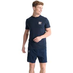 vaatteet Miehet Lyhythihainen t-paita Superdry MS300015A Sininen
