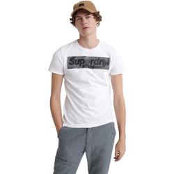 vaatteet Miehet Lyhythihainen t-paita Superdry M1000069A Valkoinen