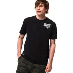 vaatteet Miehet Lyhythihainen t-paita Superdry M1000040A Musta