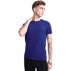 vaatteet Miehet Lyhythihainen t-paita Superdry M1010067A Sininen