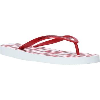 kengät Naiset Varvassandaalit Calvin Klein Jeans B4R0902 Punainen