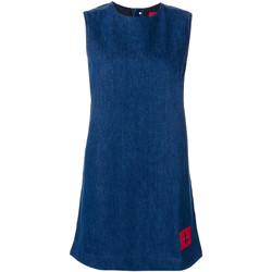 vaatteet Naiset Lyhyt mekko Calvin Klein Jeans J20J207406 Sininen