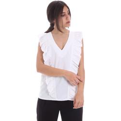 vaatteet Naiset Topit / Puserot Gaudi 011BD45031 Valkoinen