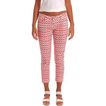 vaatteet Naiset Caprihousut Gaudi 811BD25013 Valkoinen