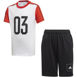 vaatteet Lapset Verryttelypuvut adidas Originals FL2810 Valkoinen