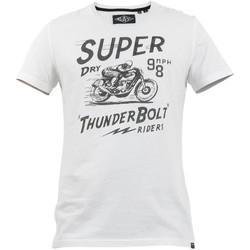 vaatteet Miehet Lyhythihainen t-paita Superdry M1010259A Valkoinen