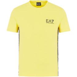 vaatteet Miehet Lyhythihainen t-paita Emporio Armani EA7 3HPT07 PJ03Z Keltainen