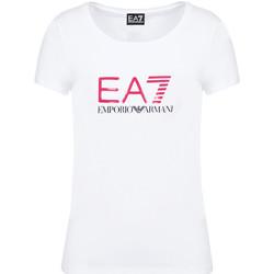 vaatteet Naiset Lyhythihainen t-paita Ea7 Emporio Armani 8NTT63 TJ12Z Valkoinen
