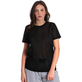 vaatteet Naiset Lyhythihainen t-paita Converse 10007575 Musta