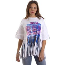 vaatteet Naiset Lyhythihainen t-paita Versace B2HVB7V730384003 Valkoinen