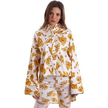 vaatteet Naiset Paitapusero / Kauluspaita Versace B0HVB624S0771003 Valkoinen