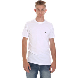vaatteet Miehet Lyhythihainen t-paita Les Copains 9U9011 Valkoinen
