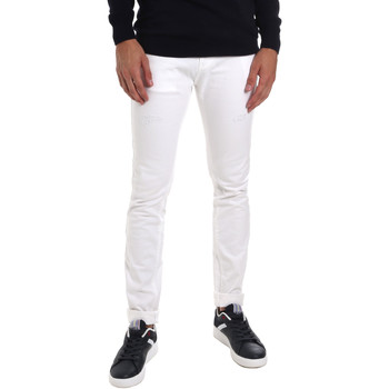 vaatteet Miehet Slim-farkut Gaudi 011BU25061 Valkoinen