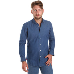 vaatteet Miehet Pitkähihainen paitapusero Betwoin DENIM78 6635535 Sininen