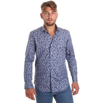 vaatteet Miehet Pitkähihainen paitapusero Betwoin D066 6635535 Sininen