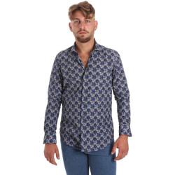 vaatteet Miehet Pitkähihainen paitapusero Betwoin DB111 Sininen