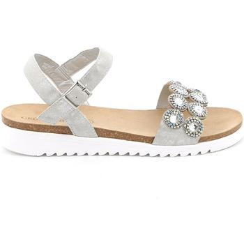 kengät Naiset Sandaalit ja avokkaat Grunland SB1582 Hopea