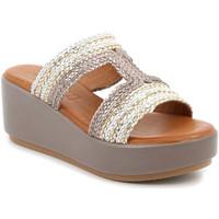 kengät Naiset Sandaalit Grunland CI2853 Beige