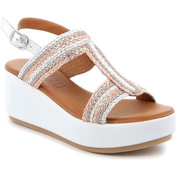 kengät Naiset Sandaalit ja avokkaat Grunland SA2489 Hopea