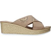 kengät Naiset Sandaalit Grunland CI1771 Beige