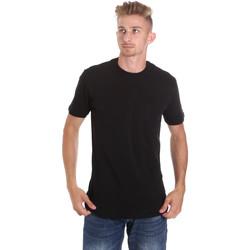 vaatteet Miehet Lyhythihainen t-paita Les Copains 9U9010 Musta